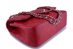 11C Chanel Red Caviar Classic Jumbo Double Flap Bag SHW