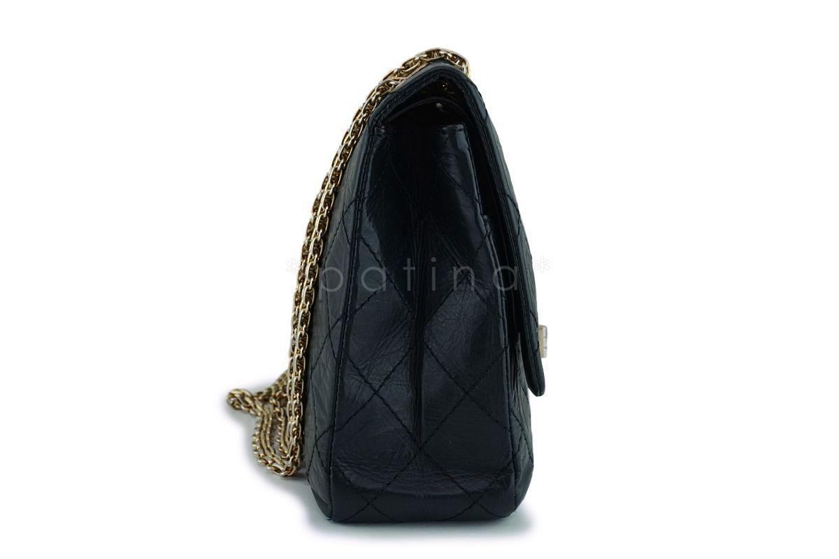 d933c5a7b29 Chanel Black Large 227 Jumbo Reissue 2.55 Classic Double Flap Bag GHW