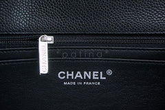 Chanel Black Caviar Jumbo Classic Flap Bag SHW