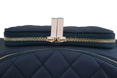 NIB 19P Chanel Blue Caviar Business Affinity Fanny Pack Waist Belt Bag GHW