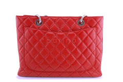 Chanel Red Caviar Grand Shopper Tote GST Bag SHW
