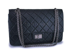 Chanel Black Aged Calfskin Reissue Large 227 2.55 Flap Bag RHW