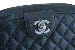 Chanel Black Grained Calfskin Quilted Classic Fanny Pack Bag RHW
