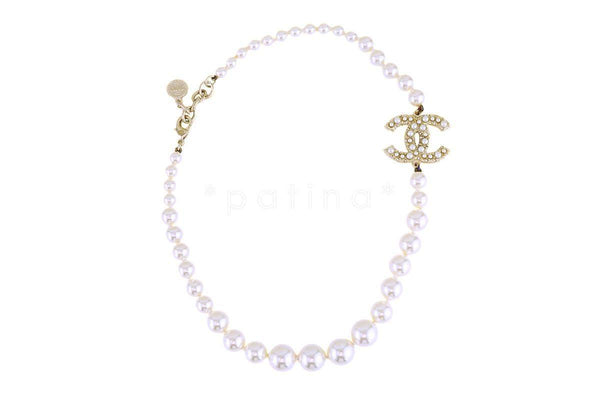 Chanel 100th Anniversary Pearl Classic CC Choker Necklace A64757