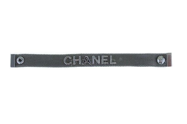 Chanel 17A Limited Shiny Ruthenium Mesh Bracelet A99058