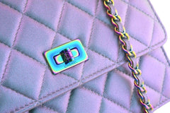 Chanel Iridescent Purple Mermaid Reissue Wallet on Chain WOC Mini Bag