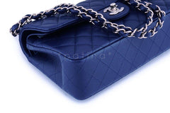 NIB 20C Chanel Navy Blue Caviar Small Classic Double Flap Bag GHW