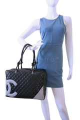 Chanel Black XL Large Cambon Bowler Tote Bag SHW