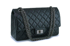 Chanel Black Aged Calfskin Reissue 2.55 225 Double Flap Bag RHW