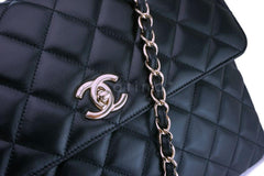 Chanel Black Lambskin Large Classic Trendy CC Flap Bag GHW