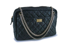 Chanel Black Aged Calfskin Classic Reissue Camera Case Bag GHW