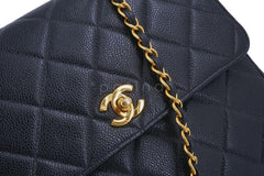 Chanel Vintage Black Caviar Medium Crossbody Flap Bag 24k GHW