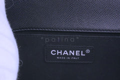 Chanel Black Caviar Medium Boy Bag Flap RHW