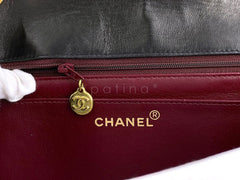 Chanel Vintage Black Jumbo Classic Flap Bag 24k GHW