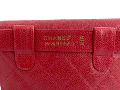 Chanel Vintage Red Caviar Belt Bag Rounded Fanny Pack