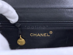 Chanel Vintage Caviar Mini Kelly Evening Bag Black 24k GHW