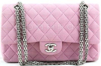 Chanel Pink Quilted Canvas Classic 2.55 Shoulder Flap Bag