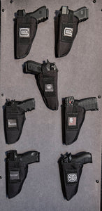 Kohroo tactical Holster labeling system velcro hook & loop for carpeted safe surfaces. Gun Collection