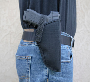Kohroo Gun Holster with Belt loop wear on hip with velcro Hook & Loop