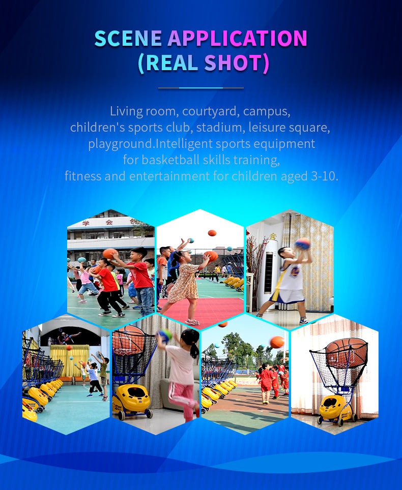 Kids Basketball Training machine - Real photos