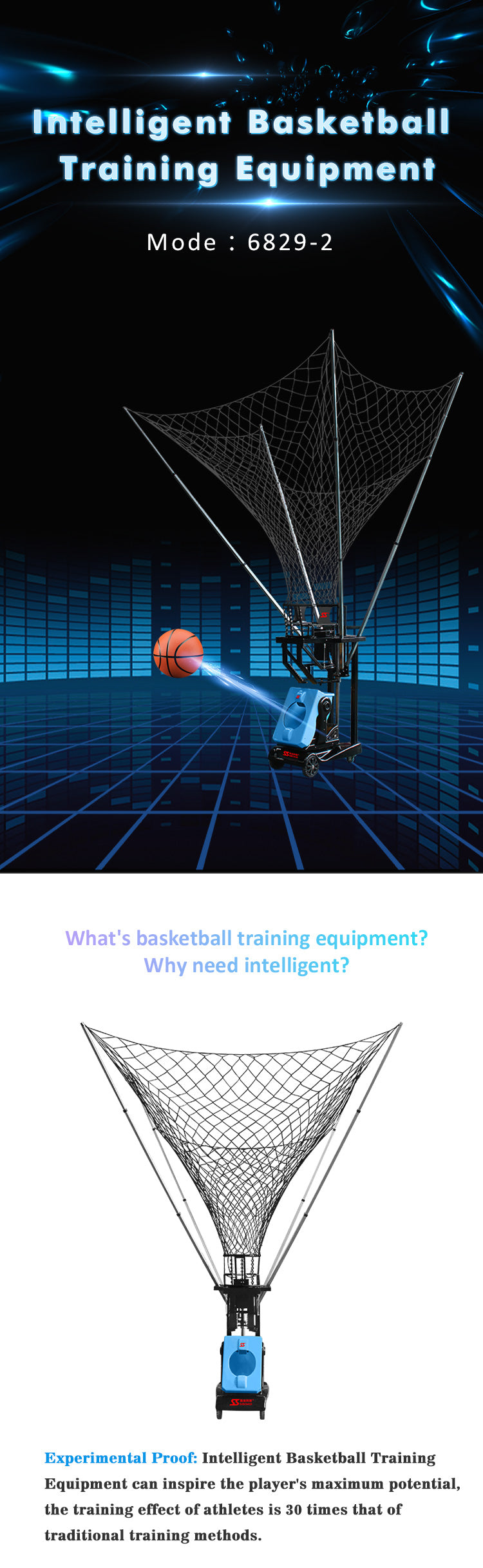Basketball Ball Throwing Training Machine : Introduction