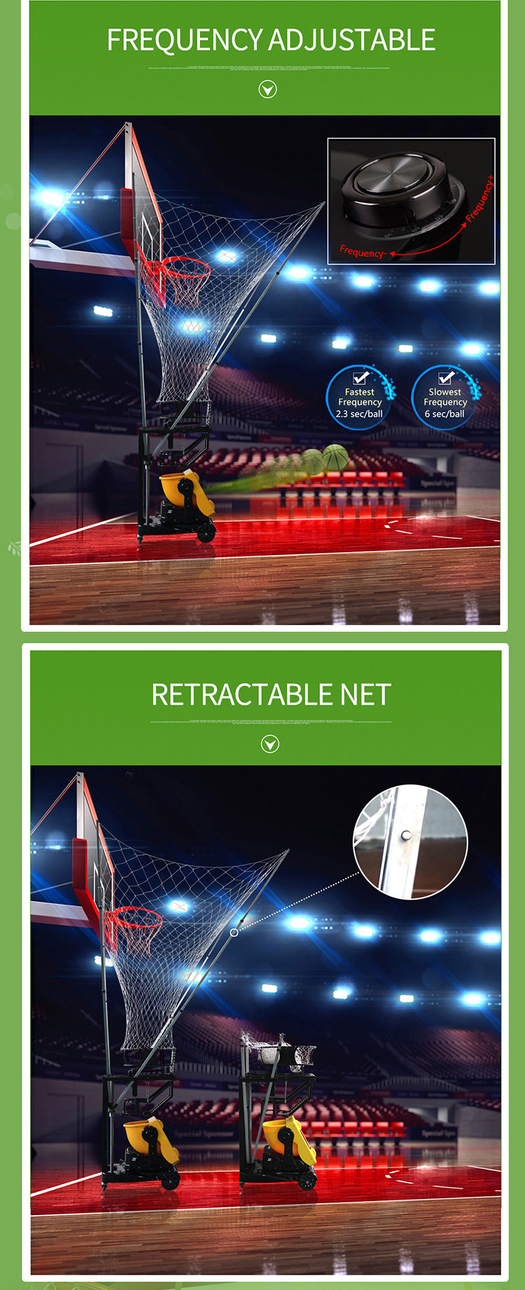 Basketball Training Machine : Product Features
