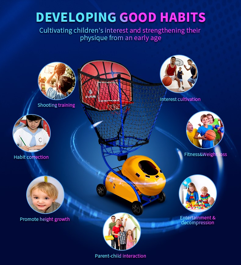 Kids Basketball Training machine - Kids develop good habits
