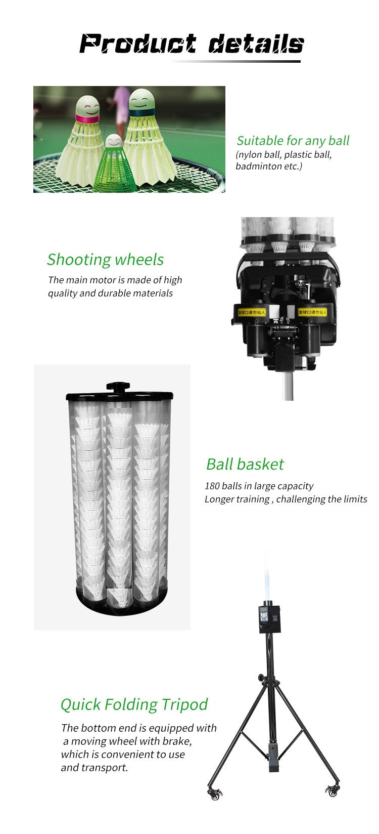 Badminton Training Machine - Product Details