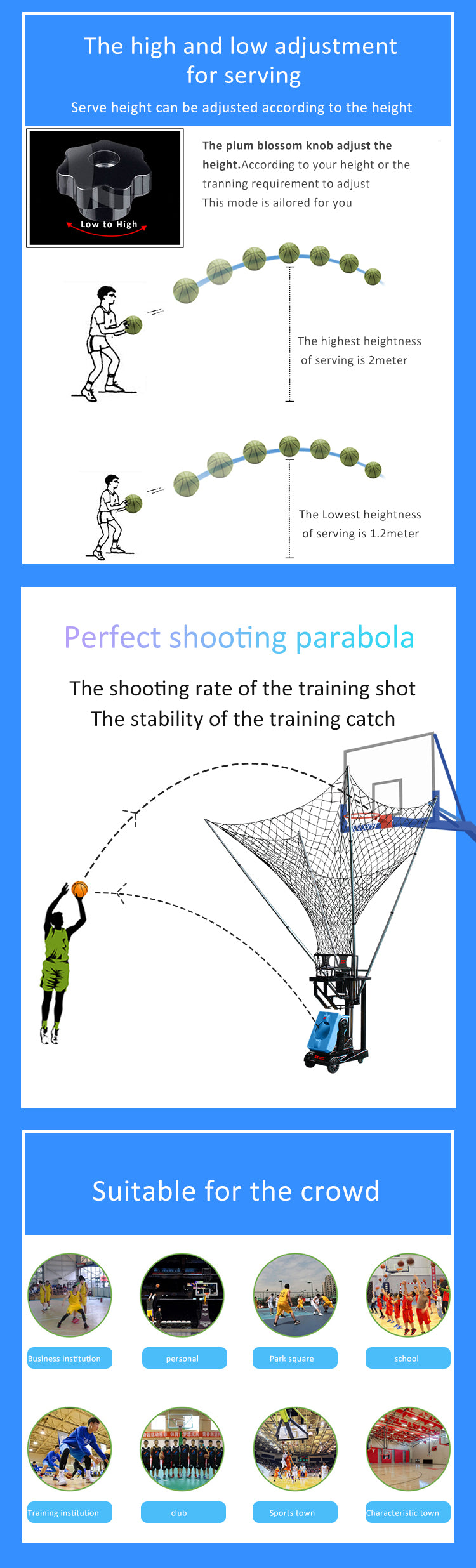 Basketball Ball Throwing Training Machine : Perfect Shoot