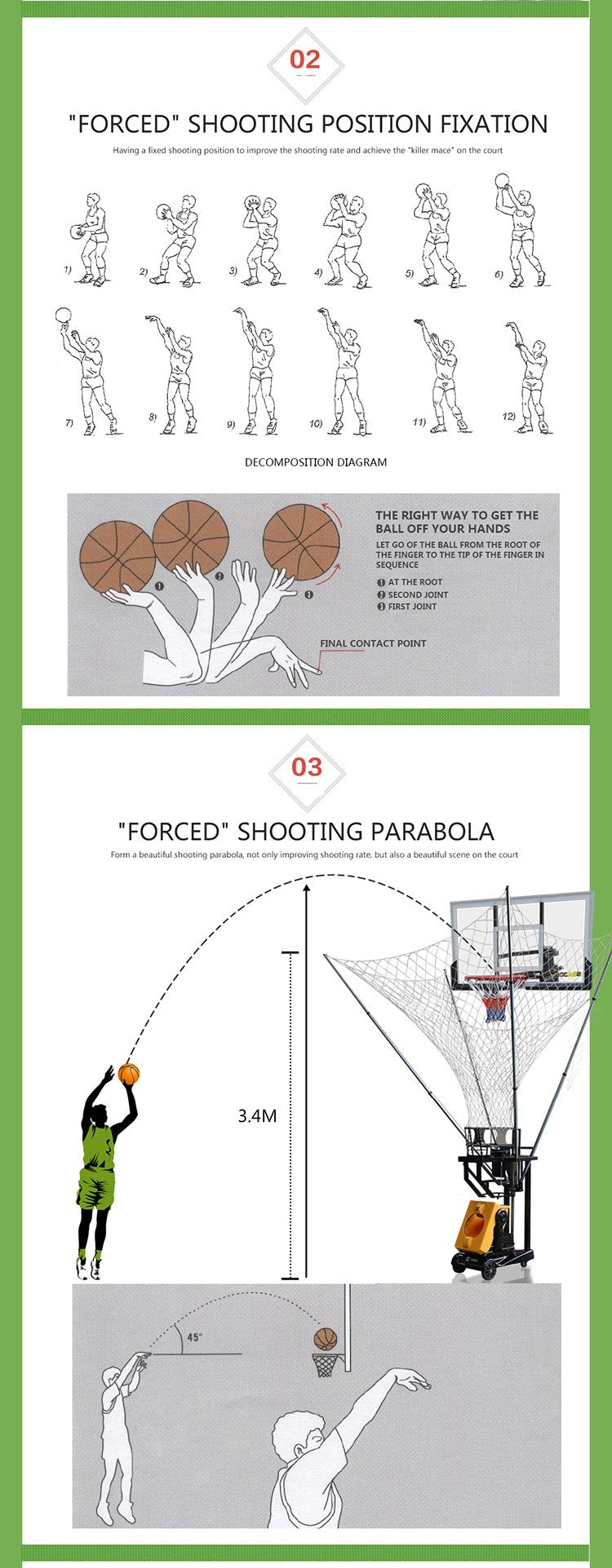 Basketball Training Machine : Shooting Parabola