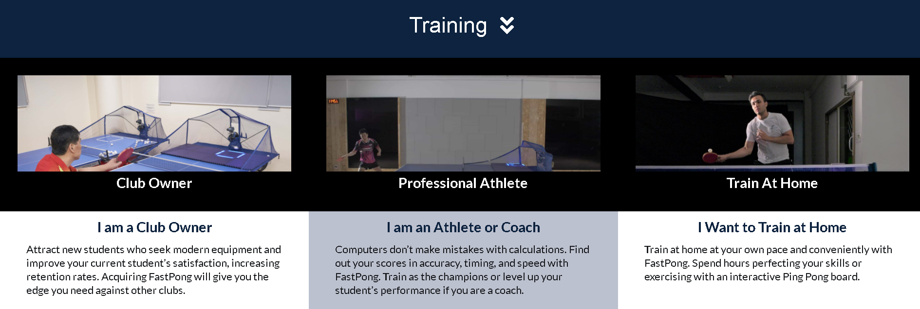 AI Interactive Table Tennis Training Machine : Training Features