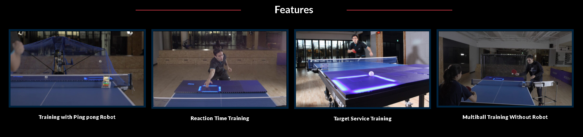 AI Based Table Tennis Training Machine : Product Features