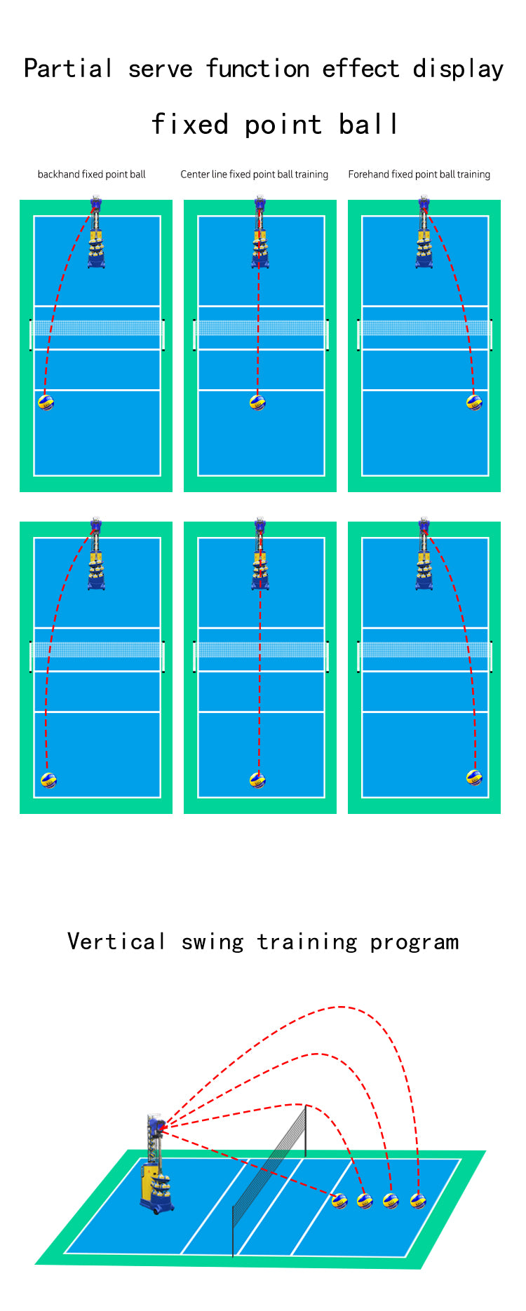 Volleyball Ball Throwing Training Machine : Serving Function 1