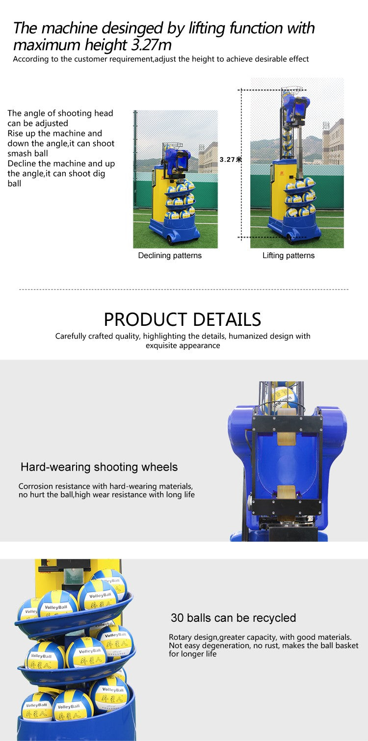 Volleyball Ball Throwing Training Machine : Product Details