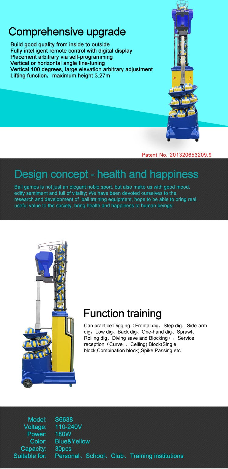 Volleyball Ball Throwing Training Machine : Product Features
