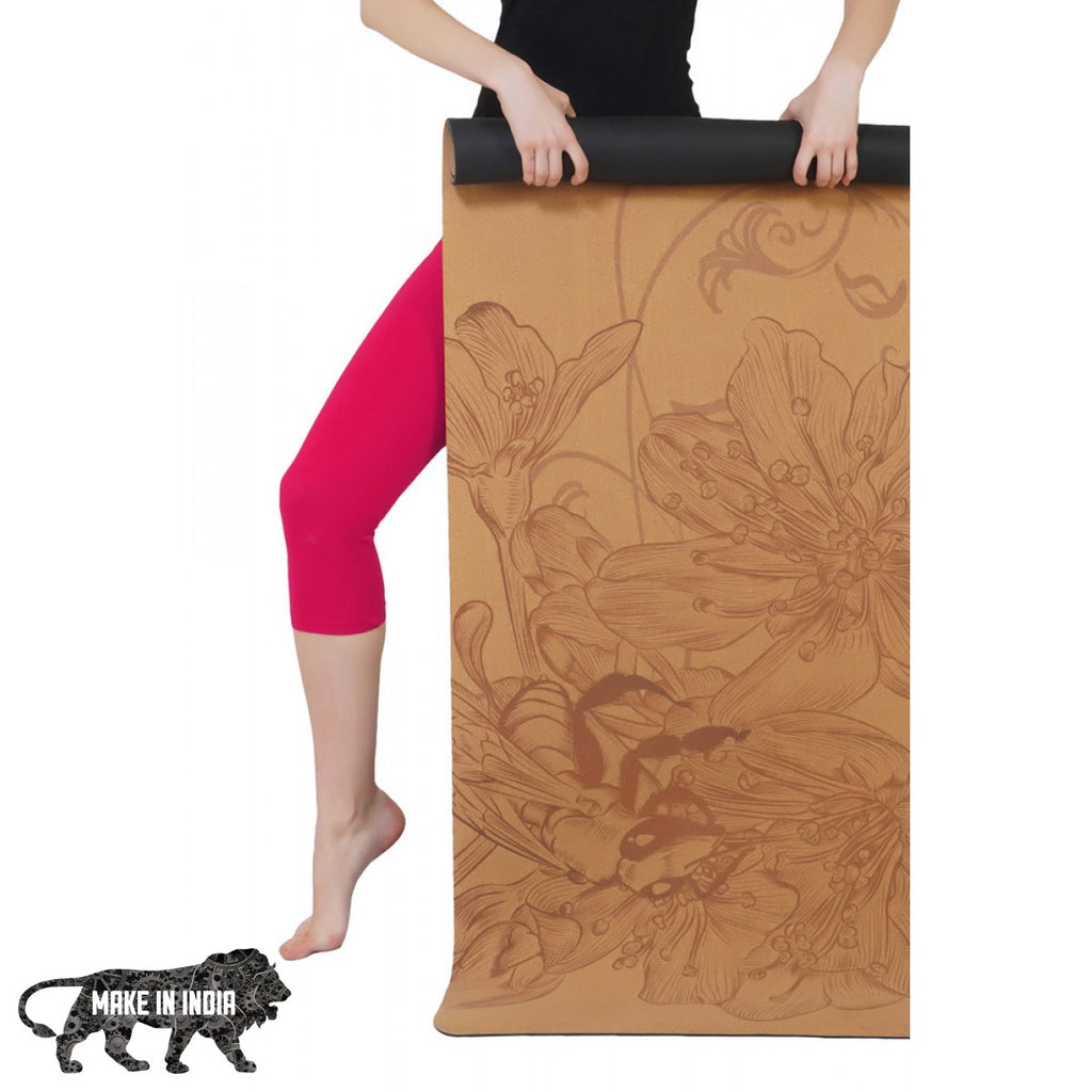 PU Cork Yoga Meditation Mat - Design 3