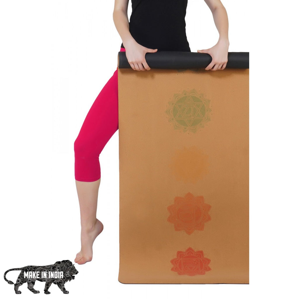 PU Cork Yoga Meditation Mat - Design 4