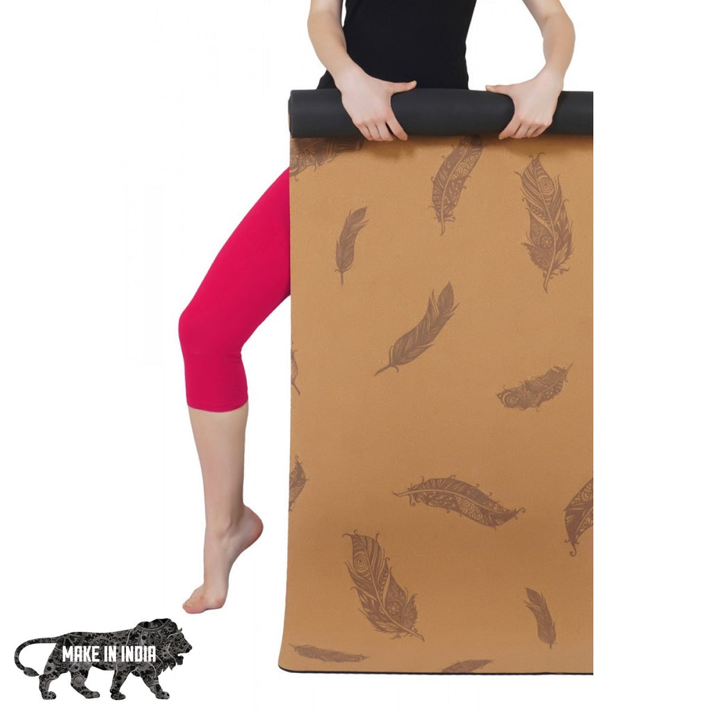 PU Cork Yoga Meditation Mat - Design 5