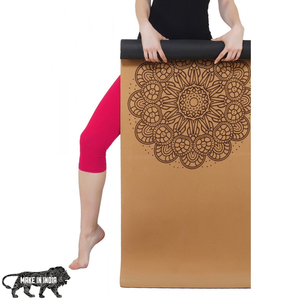 PU Cork Yoga Meditation Mat - Design 6