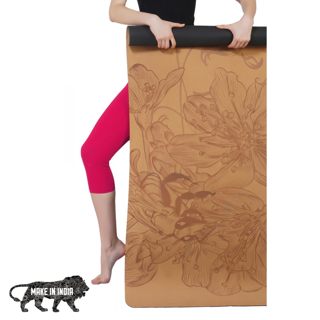 PU Cork Yoga Meditation Mat - Design 7