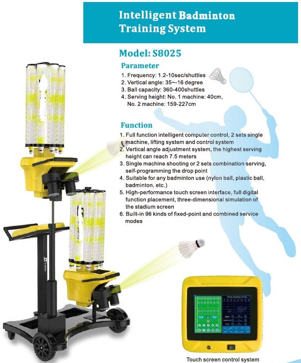 Badminton Shuttle Throwing Training Machine - Double Head
