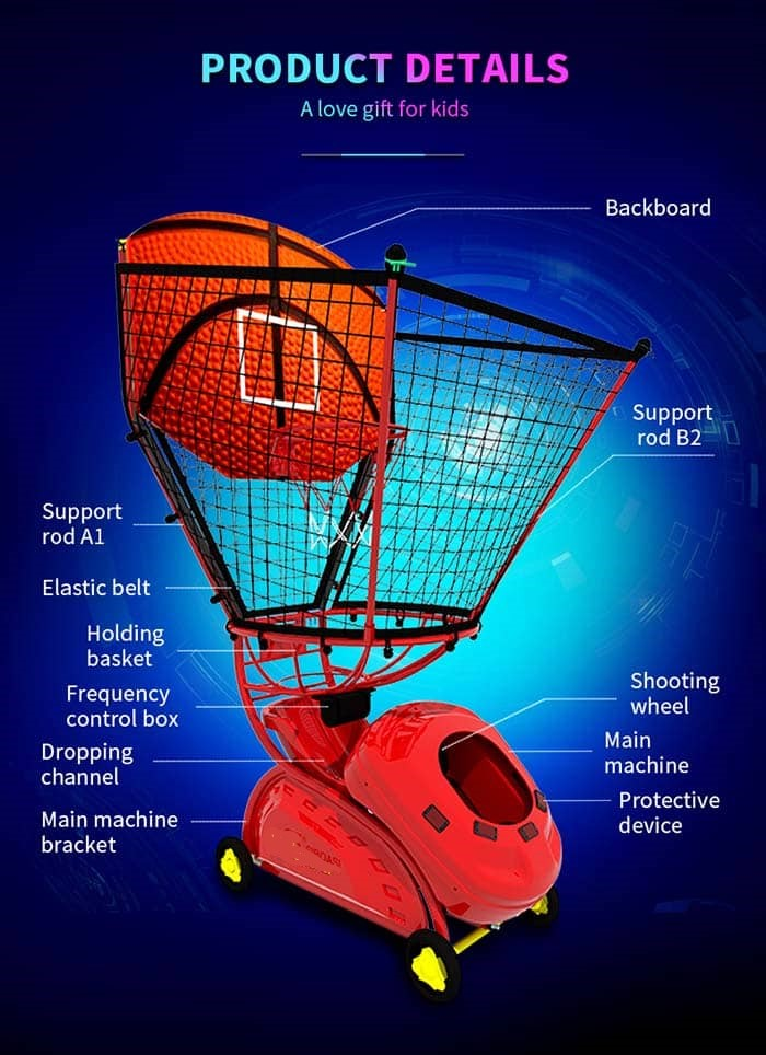 Kids BasketBall Ball Throwing Machine