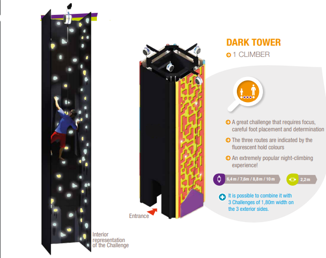 Dark Tower ( For 4 climbers)