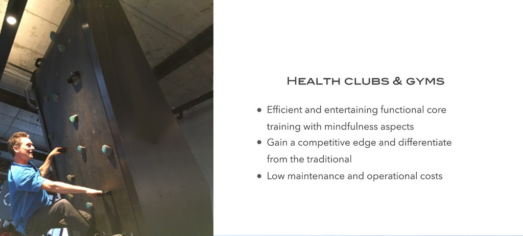 Indoor Climbing Training Wall - Usage 2