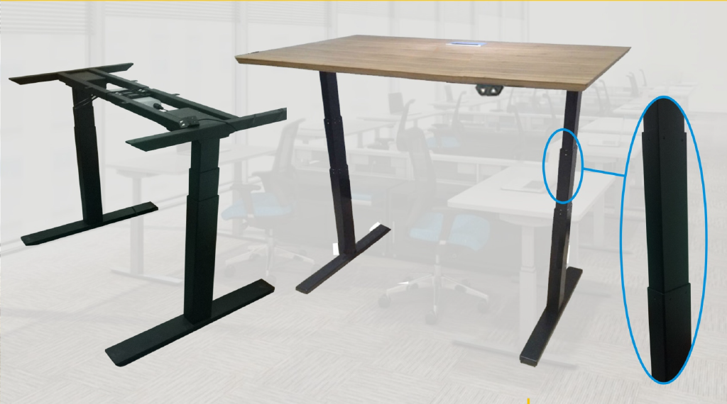 Sit Stand Electric Work Desk ( With table Top )