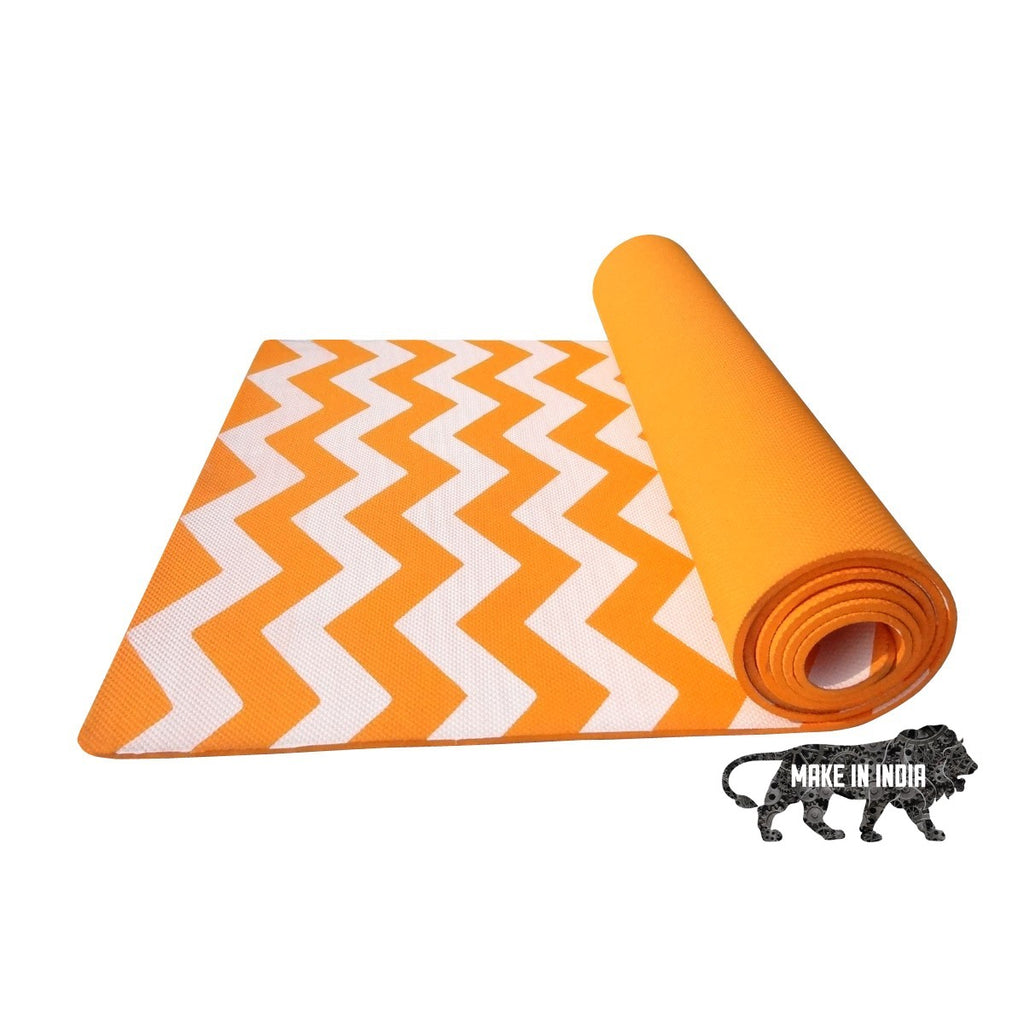 Zig Zag Yoga Meditation Mats - Orange