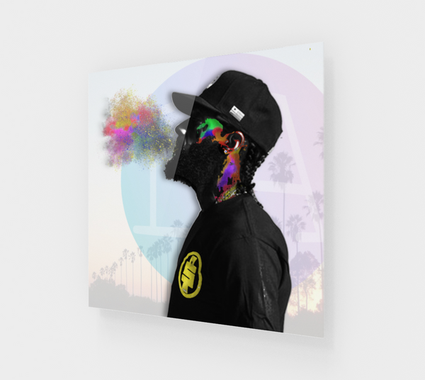 Nipsey Hussle Abstract Gloss Print - PREMIUM FATURE