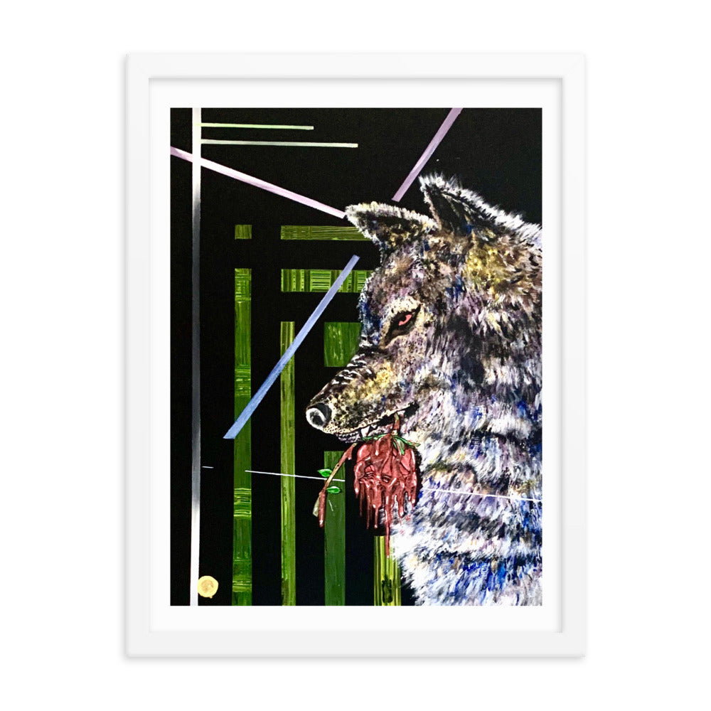 Abstract Wolf Framed Poster - PREMIUM FATURE