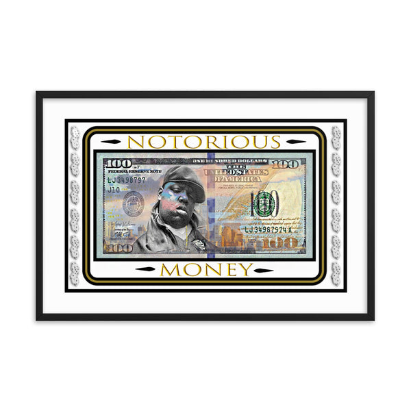 "Biggie Smalls ""Notorious Money"" Framed Poster - PREMIUM FATURE"