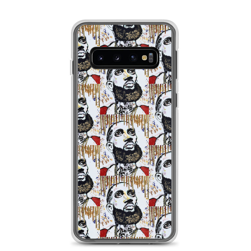 "Nipsey Hussle ""Gold Drip"" Pop Art Samsung Case - PREMIUM FATURE"